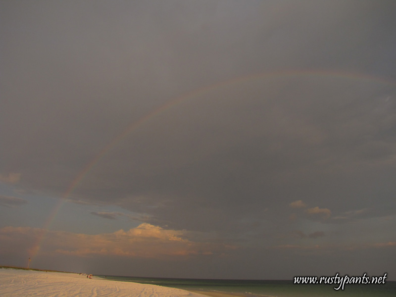 Rainbow out on Pensacola Beach