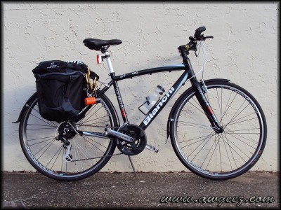 2011 Bianchi Camaleonte Uno w/ Topeak Super Tourist rack, Deuter Rack Pack Uni Panniers, and a Kryptonite NY 1210 Chain and Evolution 4 Lock
