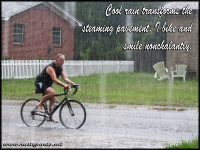 Rainy day bike haiku
