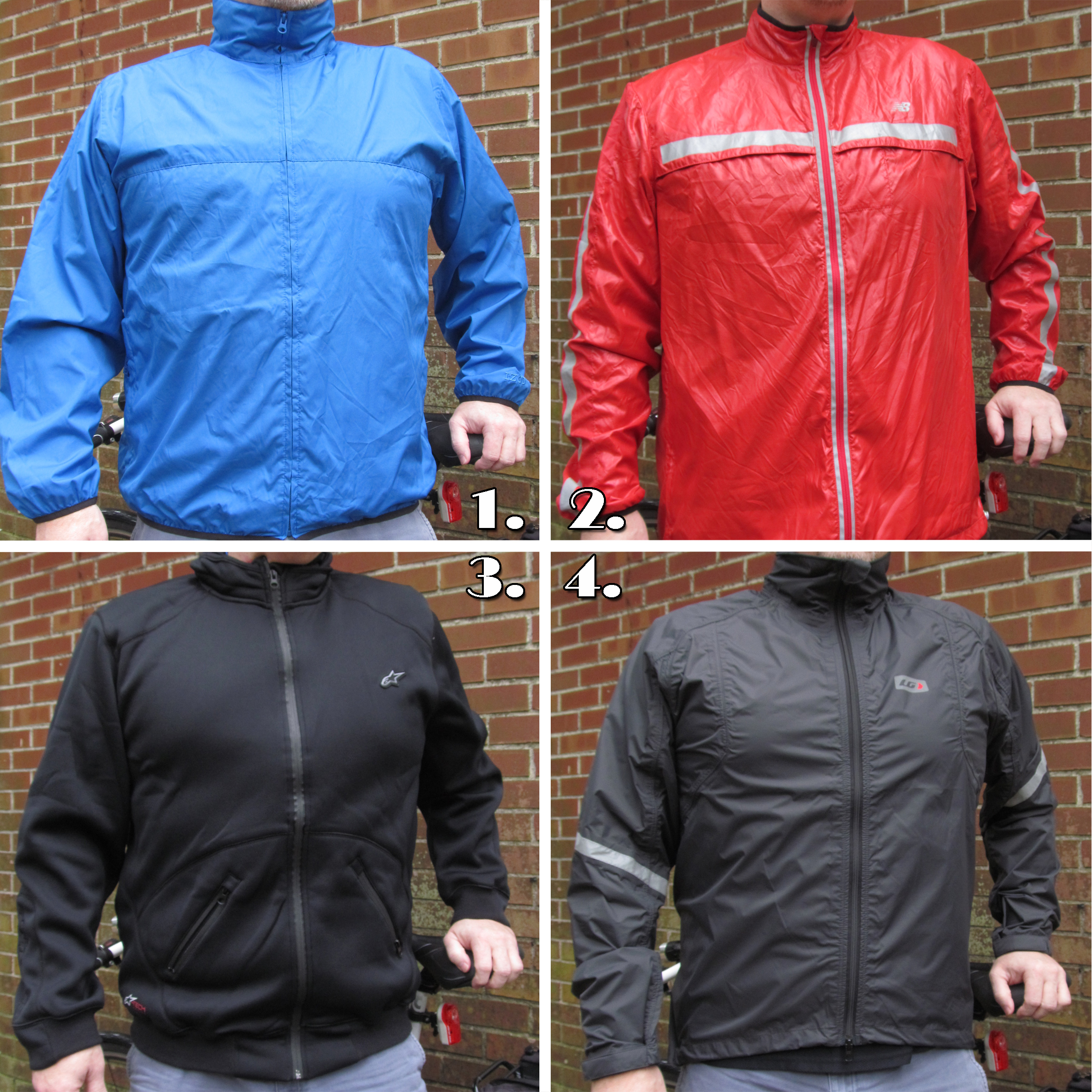 Four cycling jackets in three and a half years.